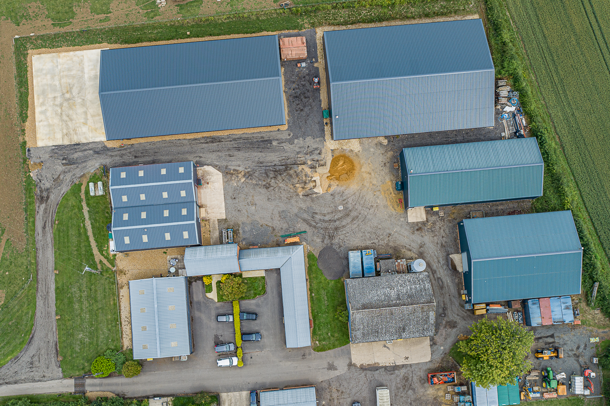 Aerial photography for commercial sites