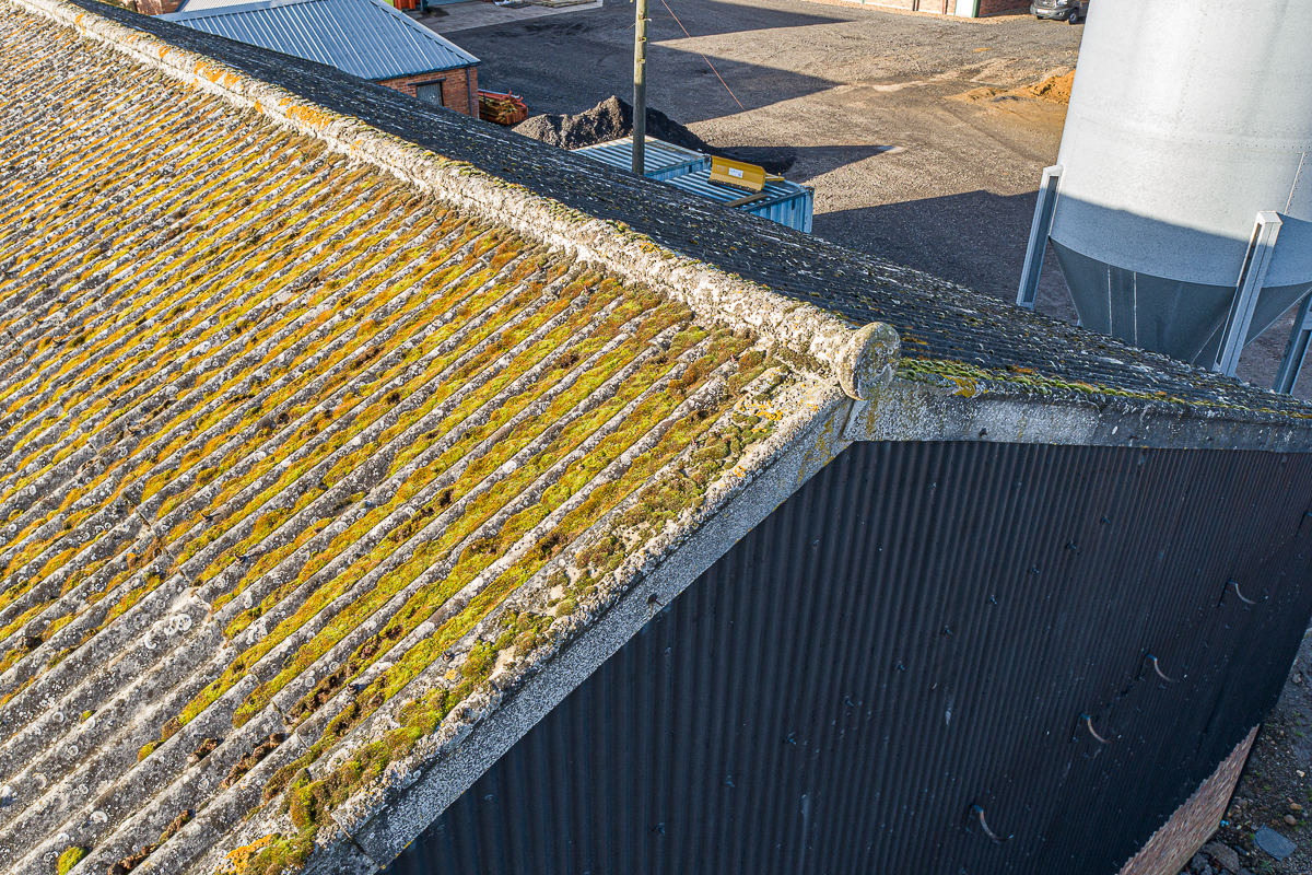 Aerial photography for visual roof inspections